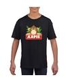 T shirt zwart voor kinderen met aapie het aapje