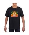 T shirt zwart voor kinderen met doggy dog de hond