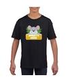T shirt zwart voor kinderen met muisje mighty mike