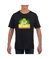 T shirt zwart voor kinderen met slanky de slang