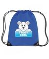 Teddy cool de ijsbeer rugtas gymtas blauw voor kinderen