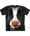 The mountain koeien t shirt zwart wit