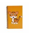 Tijger notitieboekje oranje 18cm