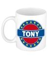 Tony naam koffie mok beker 300 ml