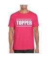 Topper t shirt fuscia roze heren