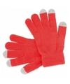 Touchscreen handschoenen rood voor volwassenen