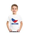 Tsjechie hart vlag t shirt wit jongens en meisjes
