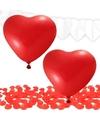 Valentijn versiering pakket rood wit
