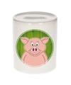 Varkens spaarpot voor kinderen 9 cm