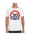 Verkeersbord 30 jaar t shirt wit volwassenen