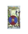 Viking zwaard met rood blauw schild en bijl set