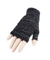 Vingerloze handschoenen grijs gemeleerd voor volwassenen