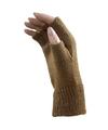 Vingerloze winter handschoenen licht bruin voor volwassenen