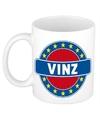 Vinz naam koffie mok beker 300 ml