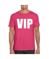 Vip tekst t shirt roze heren