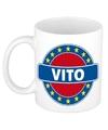 Vito naam koffie mok beker 300 ml