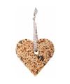Vogelvoer decoratiehanger hart 10 cm