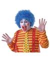 Voordelige blauwe clownspruik voor volwassenen