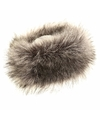 Warme grijze nepbont hoofdband voor dames