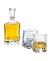 Whiskey karaf 0 7 liter met twee bijzondere whiskey glazen