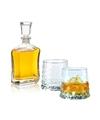 Whiskey karaf 0 7 liter met twee gemvormige whiskey glazen