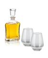 Whiskey karaf 0 7 liter met vier bolvormige whiskey glazen
