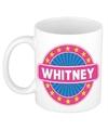 Whitney naam koffie mok beker 300 ml