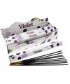 Wierook stokjes viooltjes 20 stuks