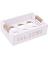 Wit ei kistje voor 6 paaseieren