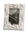 Wit fotolijstje abstract 16 x 21 cm