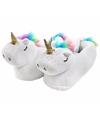 Witte eenhoorn pantoffels voor dames