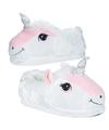 Witte eenhoorn pantoffels voor kinderen maat 31 32