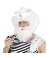 Witte kapiteinspruik met baard