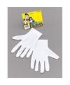 Witte korte goochelaars handschoenen voor volwassenen