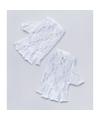 Witte korte kanten handschoenen voor volwassenen