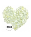Witte rozenblaadjes 2000 stuks