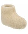 Wollen pantoffels wit voor kinderen
