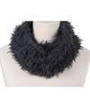 Zachte col sjaal grijs voor volwassenen