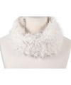 Zachte col sjaal wit voor volwassenen