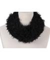 Zachte col sjaal zwart voor volwassenen