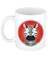 Zebra mok beker voor kinderen 300 ml