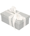 Zilver glitter cadeaudoosje 24 cm rechthoekig
