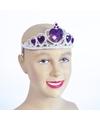 Zilveren tiara met paarse stenen