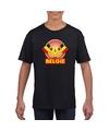 Zwart belgie kampioen shirt kinderen