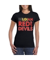 Zwart belgium red devils supporter shirt dames