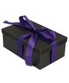 Zwart glitter cadeaudoosje 22 cm rechthoekig