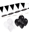 Zwart witte versiering pakket xl
