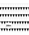 Zwart witte vlaggetjes pakket 200 meter