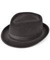 Zwarte al capone hoed vilt voor volwassenen