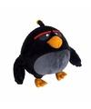Zwarte angry birds vogel knuffel 20 cm